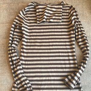 4/$20 sale - Merona brown striped turtleneck sz XS